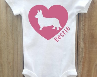 Corgi Baby Bodysuit, Corgi Love, Corgi Best Friend, Corgi Shirt, Dog Breed Shirt, Dog Lover Gift, Dog Breed Gift, Dog Breed Bodysuit