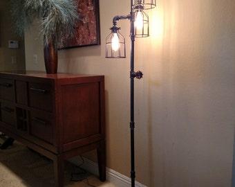 Steampunk floor lamp | Etsy
