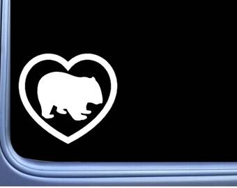 Wombat Big Heart J895 6 inch Sticker Australia Decal