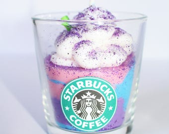 UNICORN FRAPPUCCINO CANDLE, Frappuccino Candle, Handmade Starbucks Candle , Gifts, Housewarming Gifts, Small
