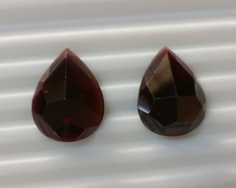 Rose cut garnet matched pears pair,tcw-27.1ct