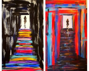 The Twins - Portals in Ying/yang - (2 paintings)