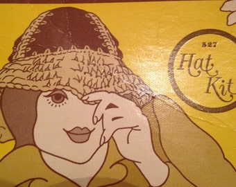 Suede and Crochet Hat Making Kit