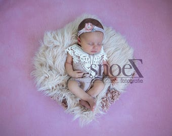 "Romper set ""Mauve""newborn girl"
