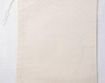 100 6x8 Cotton Muslin Drawstring Bags