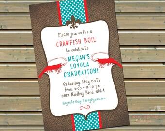 Crawfish / Shrimp Boil Invitations with Envelopes