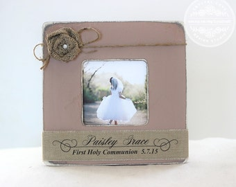 First Communion Gift Personalized Picture Frame Gift for First Holy Communion Custom Gift