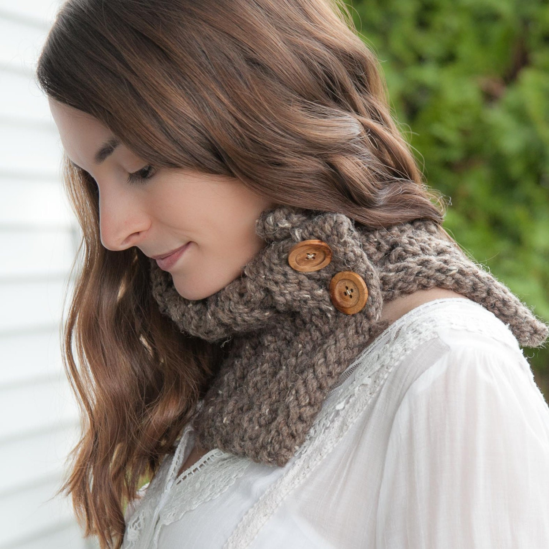 Loom Knit Cowl Scarf PATTERN. Loom Knit Eyelet chunky Cowl
