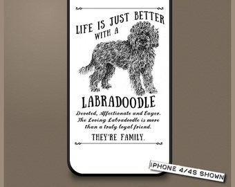 Labradoodle dog phone case cover iPhone Samsung ~ Can be Personalised