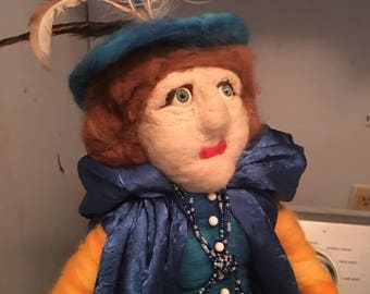Ooak Martha Minnama the blue witch Layaway avaliable