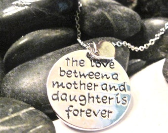 "Mother and Daughter Love Necklace "" Words cannot express the Love ""Perfect for  Mother of the Bride and Mothers Day gift."