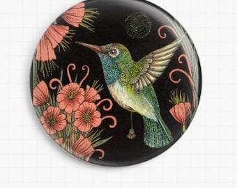 Needle Minder, Licensed Art By Anita Inverarity, Jewel, Cross Stitch Keeper, Fridge Magnet, Hummingbird Minder, Needle Nanny, Pin Keep