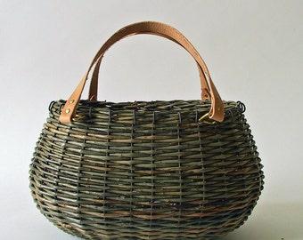 large green wicker basket
