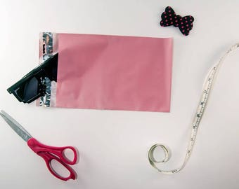 10 Pack Pale Pink 6 x 9 Poly Mailers Shipping Bags Colored Envelopes Self Seal Supplies Flat