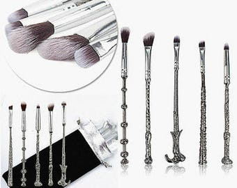 Harry Potter Wand Thread Make Up Brushes Set Face Concealer Foundation Makeup Powder Brush