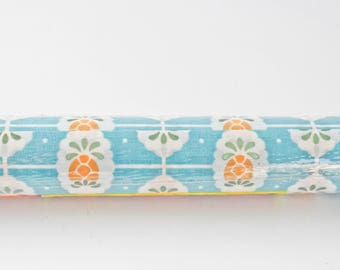 Vintage New Old Stock Kitschy Blue Pineapple and Polka Dot Rubbermaid Shelf Liner-Contact Paper