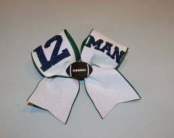 Seattle Seahawks Cheer Bow