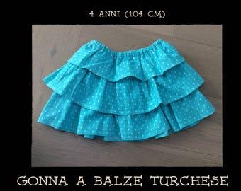 3 flounce Skirt