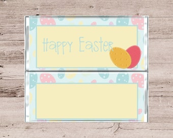 Pastel Easter Egg Chocolate Bar Wrapper-Pastel Easter Egg Candy Bar Wrapper-Easter Candy Wrapper-Easter Candy-Easter Chocolate Wrapper