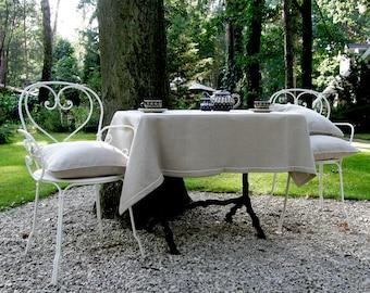 Natural Linen Tablecloth, Pure linen table cloth, Wedding tablecloth, Rustic table cloth