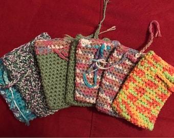 100% Cotton Crocheted Soap Saver