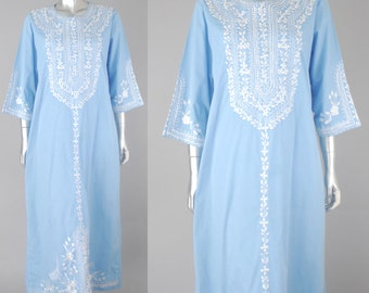 vintage 70s mexican dress | vintage mexican wedding dress | vintage embroidered dress