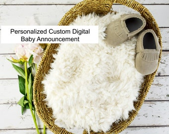 Personalized Custom Digital Announcement / How to announce pregnancy /