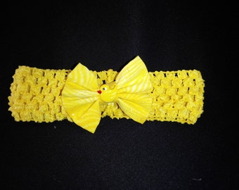 Yellow duck infant headband