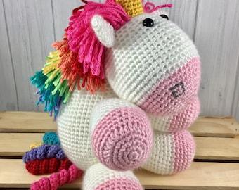 Fluffy Pink Rainbow Unicorn