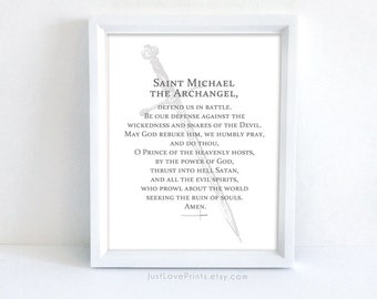 Prayer to St. Michael the Archangel | Catholic Confirmation Gift | 8x10 Catholic Print