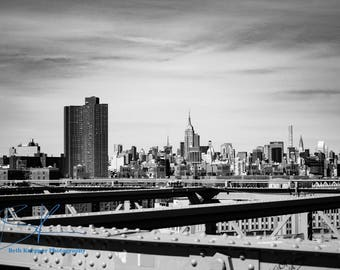 B&W Photo Print: Midtown Manhattan/Empire State Building