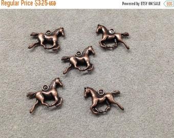 On Sale NOW 25%OFF Beautiful Horse Pendants/Charms Antique Copper Z1268 Qty 5