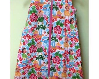 NEW-Flannel-HULA GIRLS-Blanket Sleep Sleeper Sack-12-24 M-Last One-Ready to Ship