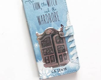 The Lion, the Witch and the Wardrobe Narnia Phone Case, iPhone Case, Book Phone Case, Book iPhone Case, Wallet Phone Case