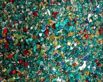 German Glass Glitter -Sea Glass