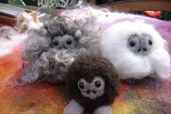 Baby Yeti, Sasquatch, Bigfoot, Needle Felted Creation Made to Order