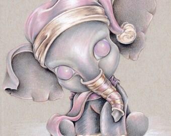 """Elephant #1 8""""x 10"""" Art Print"""