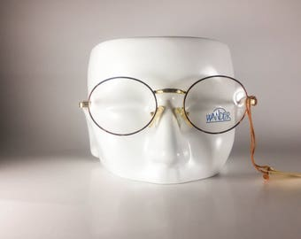 Wander 254 Made in Italy CE Unisex 47-20-135 Vintage Glasses Gold Metal NOS Deadstock - Free Shipping-WANF336J-2