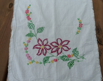 Vogue Art For Value Hand Embroidered Table Runner, circa 1940's