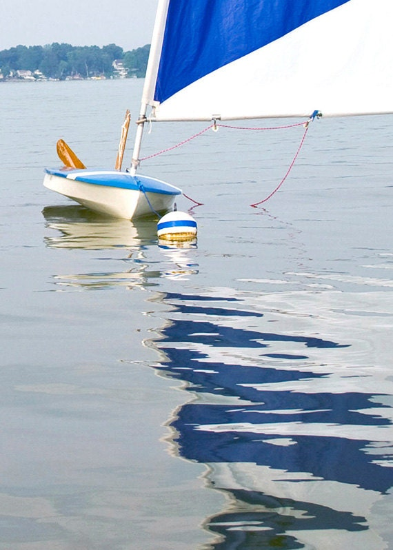 Beach Photography, Summer photography, Fne Art photography, Coastal,  Sailing, Blue, White, 8x10 print