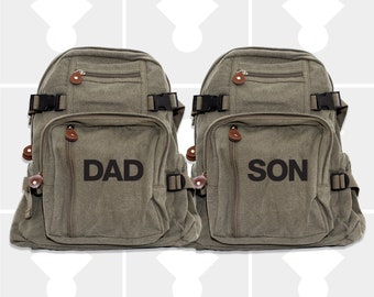 Backpack, Personalized Fathers Day, Father Son Matching, Dad Son Gift, Dad Gift, Diaper Bag Backpack, Canvas Backpack, Daddy and Me