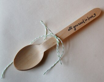 All you need is love Spoons  / Set of  130 / Perfect for your wedding