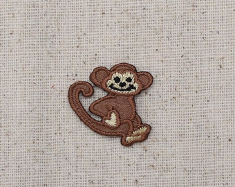 Small - Monkey - Primate - Iron on Applique - Embroidered Patch - 633308A