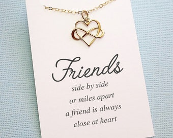 Friendship Necklace | Infinity Necklace,Best Friend Gift, Best Friend Necklace, Friends Friendship Gift, Sister Gift for Her, Birthday | F04