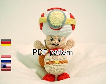 Crochet pattern Captain Toad