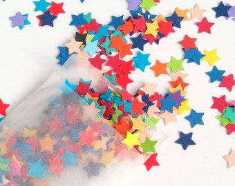 Rainbow Confetti - Star Confetti - Table Scatter - Eco Friendly - Colourful Confetti - Table Confetti - Party Decorations - Wedding Confetti