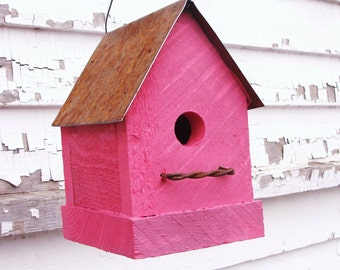 Birdhouse, Outdoor Bird House, Bird Houses, Functional BirdHouse, Outdoor & Gardening Decor