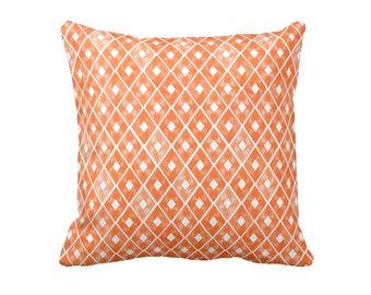 Decorative Throw Pillow  Orange Throw Pillow Orange Pillow Herringbone Pillow 20x20 18x18 16x16 24x24 22x22 Pillow Throw Pillow Cover