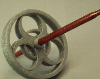 Glitter Danger Zone Bottom Whorl 3D Printed Spindle