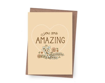 SALE You are Amazing Greeting Card - 60% off